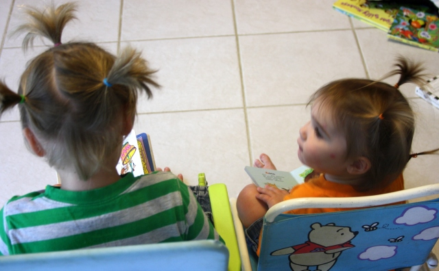 The Samurai siblings enjoy their new hairdos and take a break from havoc to read.