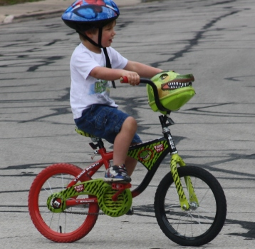 The three steps to learning to ride a bike.