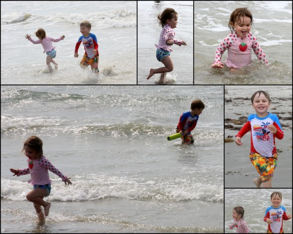 My children were lucky to escape the jellyfish - the sun exposure (despite sunblock) - not so much.
