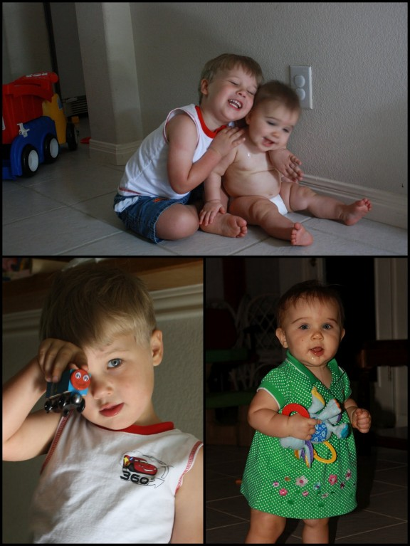 My children in July 2010