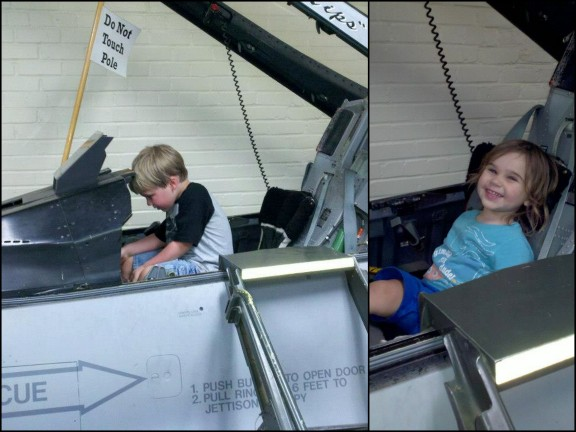 The kids loved the F-16.