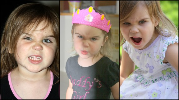 My 2.5 year old excels at performing hilarious angry faces.