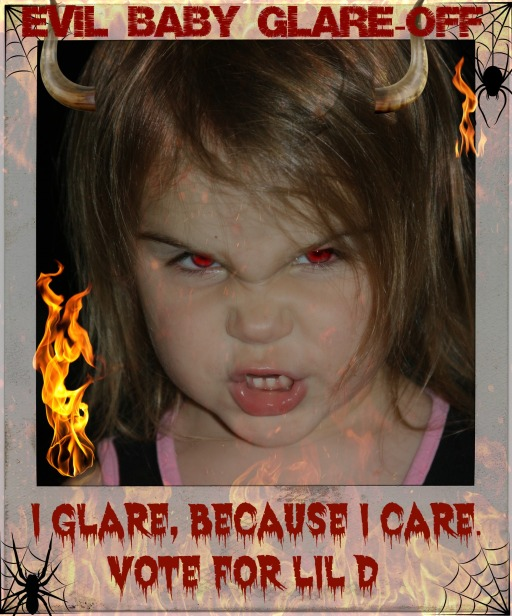 Lil D is in finals for Evil Baby Glare-Off