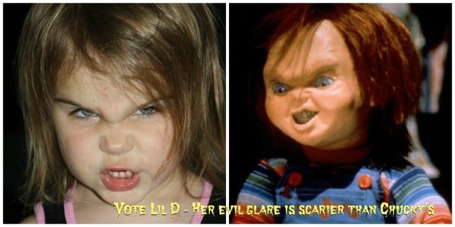 Lil Diva has the evilest glare of them al.