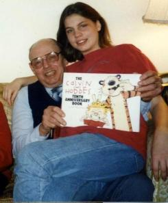 My g-pa receives another Calvin and Hobbes book for Christmas.