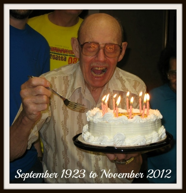 Mmmm... G-pa knew how to enjoy cake.