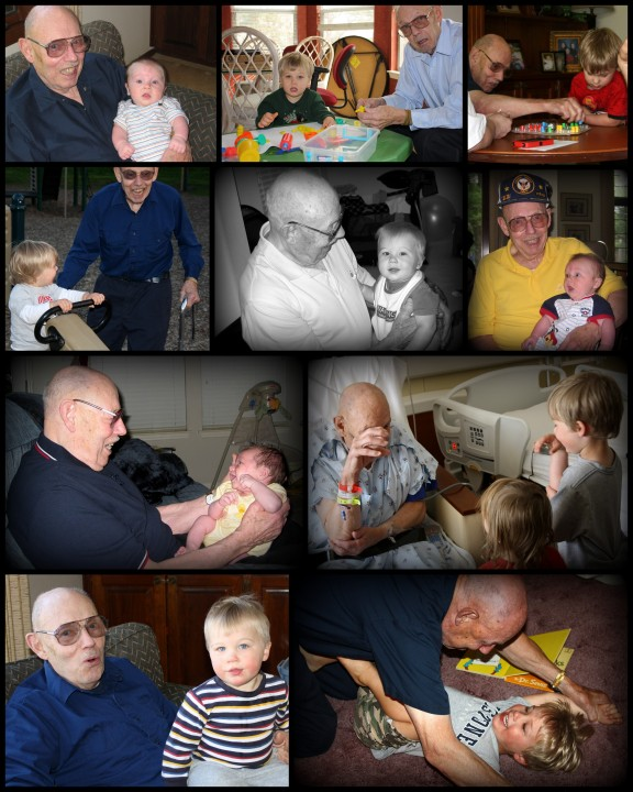 My son and grandfather throughout the 5.5 years they had together.