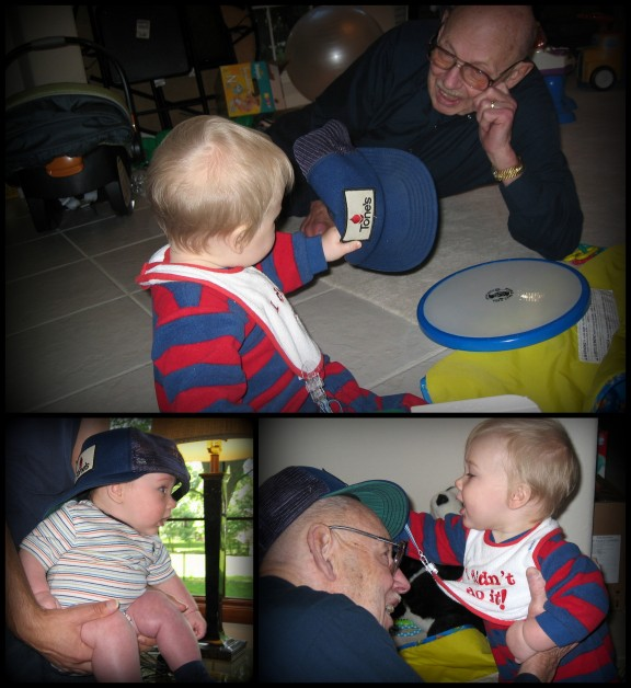 G-pa's Tone's hat was fascinating to his great-grand-children.