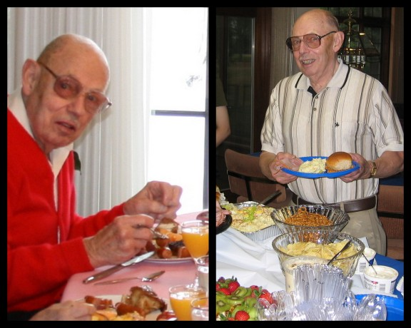 G-pa loved a good meal.