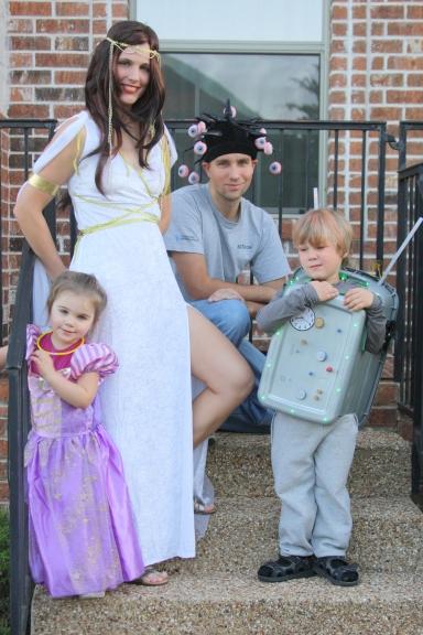 Winner of most uncoordinated Halloween costumes.