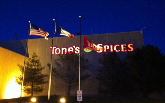 The Tone's flag is half-mast in honor of G-pa's 48 years of service.