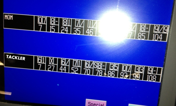 The third round of bowling--my six-year-old was unstoppable.