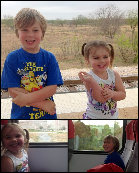 The excitement of getting to ride the train.