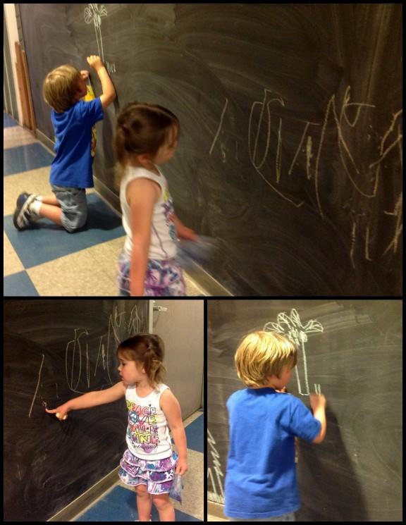 Chalk is always fun.
