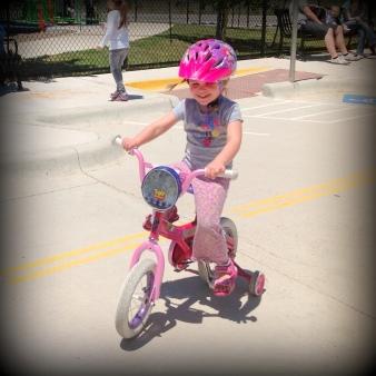 The mini bike rider.