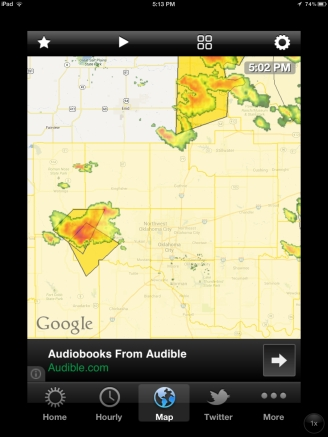 Oklahoma severe thunderstorms radar.