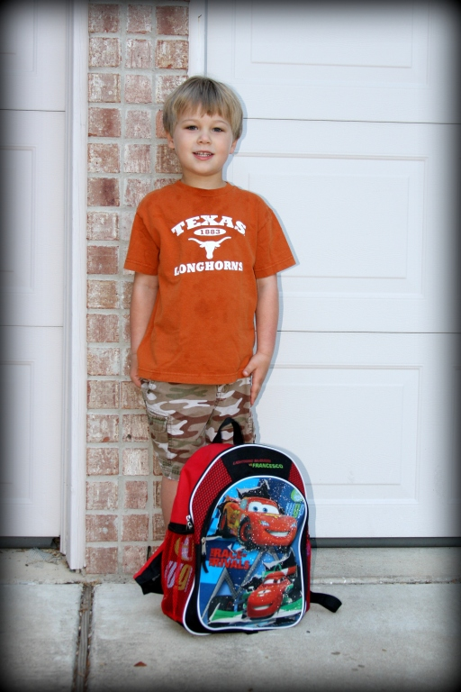 August 27th, 2012 - First day of kindergarten