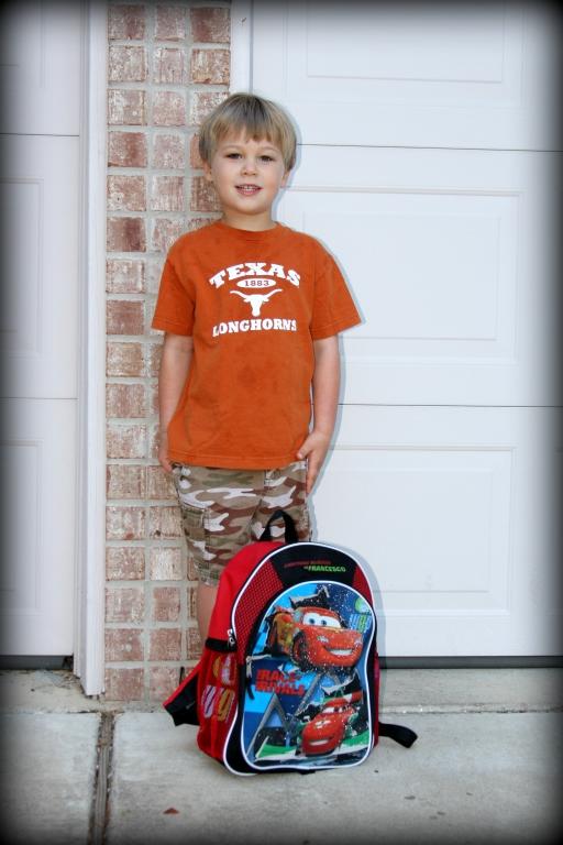 August 27th, 2012 - First day of kindergarten