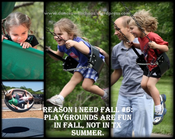 Reason #6 I Need Fall: kids love playgrounds